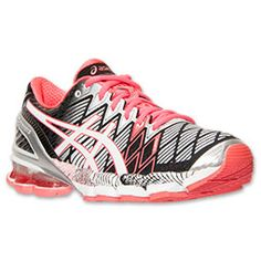 Women's Asics GEL-Kinsei 5 Running Shoes take daily training and high mileage in stride.</p>  <p>Your feet will feel right at home in the roomy toe-box, while the seamless construction synthetic and mesh upper deliver a breathable, comfy fit.  A Heel Clutching System features an exoskeletal heel counter that provides crazy support mile after mile, and a Discrete Heel Unit disperses shock on impact, so you'll be steady on your feet from the minute you lace up.  It gets better.  FluidRide…