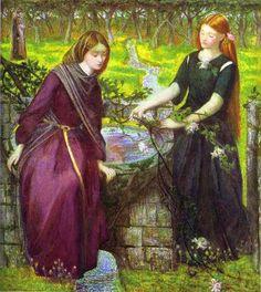 """Dante's Vision of Rachel and Leah,"" 1855. Dante Gabriel Rossetti (1828 – 1882)."