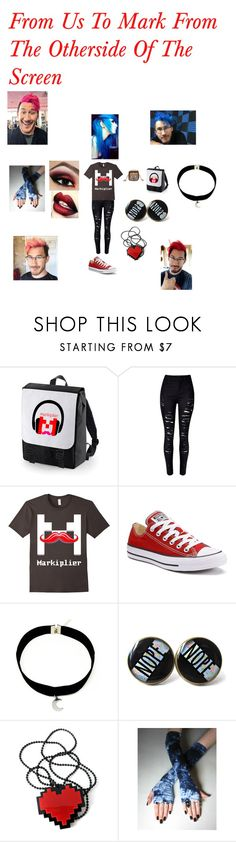 """""""Markiplier Fans Unite"""" by fallenangel889 ❤ liked on Polyvore featuring WithChic and Converse"""