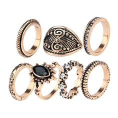 Ring Sets (56 BRL) ❤ liked on Polyvore featuring jewelry, rings and set rings