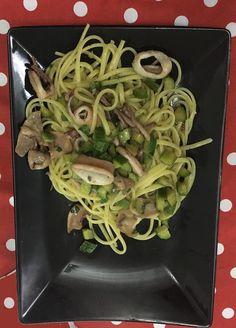 linguine totani e zucchine