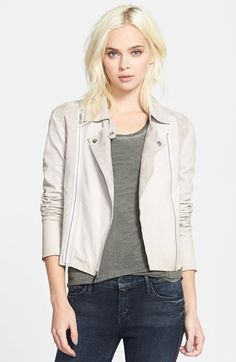Paige Denim 'Silvie' Suede & Leather Moto Jacket available at #Nordstrom
