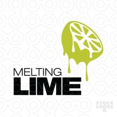 Simple, iconic mark of a juicy, dripping lime/ orange/ lemon... not just for a juice bar.