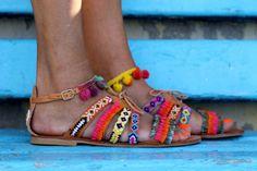 Sandals Hula Hoop handmade to order by ElinaLinardaki on Etsy …