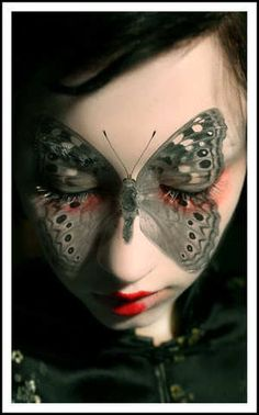 Woodland Moth makeup. I love this so much. I'll bet it looks beautiful with her eyes open as well. :):):)