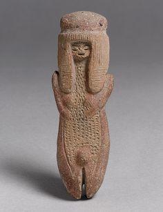 Standing Figure, end of 3rd millennium b.c. Ecuador; Valdivia Ceramic; H. 4 in. (10.2 cm)