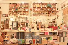 """(can you find the cat?) """"books actually"""" by aprintaday, via Flickr"""