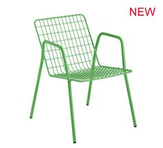 colorful metal armchair - European contract funiture