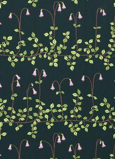 Tapetti Sandberg Linnea m non-woven lähikuva tapetin kuviosta Creative Embroidery, Stitch Patterns, Print Design, Flora, Wall Papers, Interior Design, Canvas, Illustration, Pretty