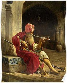 The Sentinel - Jean Lecomte du Nouy 1842 (Orientalism) HQ-quality Source by Islamic Paintings, Indian Paintings, Classic Paintings, Beautiful Paintings, Art Arabe, Arabian Art, Pics Art, Realistic Paintings, Islamic Art