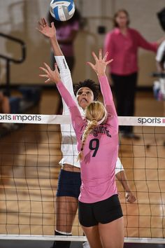 GOPSUSPORTS.COM PHOTO CENTER: Penn State's Haleigh Washington (15) during the match with the Buckeyes. The No. 9 Penn State women's volleyball team won its 15th-straight match on Oct. 19, 2016, taking down No. 19 Ohio State. It was Dig Pink night in Rec Hall. Photo by Mark Selders