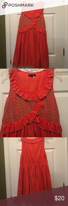 Coral dress Super cute sleeveless coral dress bought from a boutique Ryu Dresses