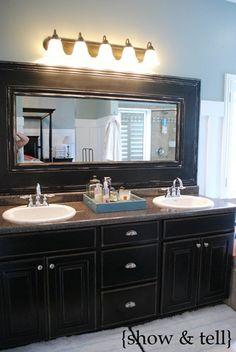 Do it yourself mirror frame..