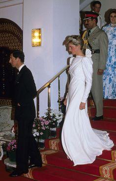 Diana and Charles in Riyadh, Saudi Arabia.