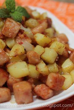 爱厨房的幸福之味: 马铃薯炒午餐肉~~~零调味料,一级棒!