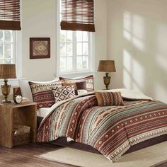 Southwest Living Southwest Living Southwest Geometric Native American Earth Tones Full / Queen Quilt, Shams & Toss Pillows Piece Bed In A Bag) Queen Comforter Sets, Bedding Sets, Bedroom Comforters, Bedspreads, Baby Bedding, Large Throw Pillows, Decorative Pillows, Toss Pillows, Bed Sets