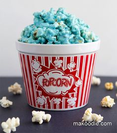 Blue (or whatever color) Popcorn