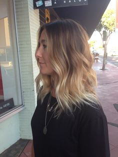 Perfect balayage. Blonde ombre. Color melt. Lob. Long bob. Beach waves. San Diego color specialist. Blonde specialist. Seamless color. Hair paint. The lab a salon.