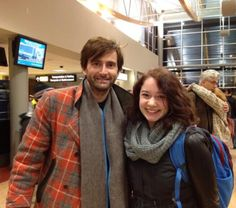 @spmcknowles: For any Doctor Who fans out there, here's a picture of my sister who bumped into Tennant at the airport.