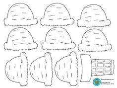 Ice cream cone with scoops from KidsMathTeacher on TeachersNotebook.com -  (1 page)