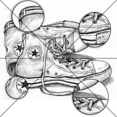 Converse Shoes Sketch Digital  Print it  anywhere  by IdrawUprint, $1.80