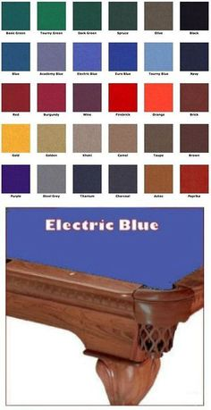 Other Billiards Accs And D Cor Quick Clean Pool Table Felt - Electric blue pool table