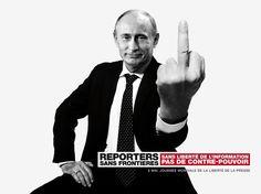 Vladimir Putin, presidente de Rusia Rusia, lugar 148 en el Índice Mundial de Prensa de Reporteros sin Fronteras