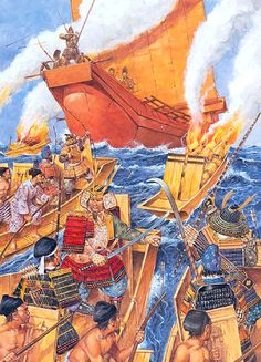 Fujiwara Sumitomo leads a pirate raid, 940