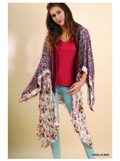 Bronx Paisley & Floral Kimono $33.95 #sweetandsassyshirts #jelizabethboutique #floralandpaisley