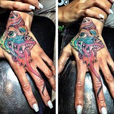 5e2dc2f790f Karrueche Tran Dragon Tattoo Japanese Hand Tattoos