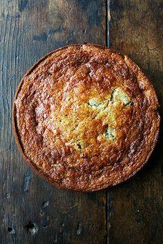 Nigella Lawson's rhubarb cornmeal cake