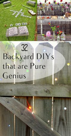 32 Backyard DIYs that are Pure Genius- great backyard party ideas, backyard projects and other fun backyard DIY ideas.
