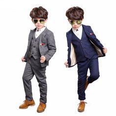 Navy Blue Attractive Boys Suit For Weddings #BoysSuit  #BoysFashion #LittleGentlemen #DressedtoImpress #Wedding #Follow #carlolavoni #CL