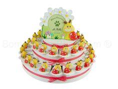 Torta bomboniera con 38 portachiavi lumachine birichine confetti inclusi #tortabomboniera #lumachine #tortadibomboniere