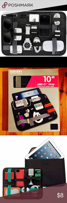 """Grid-it iPad case and organizer New in box never opened. For iPads and Android tablets 10"""". Very convenient for travelling. Protects your electronics and stores everything you need firmly in place. cocoon Accessories Tablet Cases"""