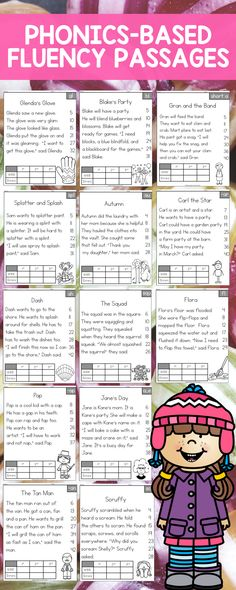 Close to 100 passages including Short Vowels, Long Vowels, Blends, R-Controlled Vowels, Digraphs, Trigraphs, Diphthongs, and CCVC/CVCC Reading Comprehension Passages.