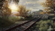 These are screenshots from our game 'The Vanishing of Ethan Carter' My work was mainly focused on non organic models, buildings and vehicles some made from scratch, and some using photogrammetry.