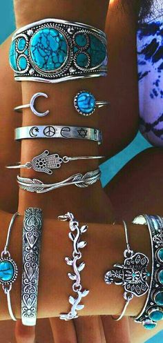 Silver and Turquoise - We Love Boho - Silver and Turquoise - . - Silver and Turquoise – We Love Boho – Silver and Turquoise – -
