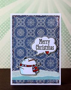 christmas card (paper smooches)