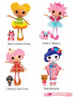 New & Upcoming Lalaloopsy Dolls, Babies, Bubbly Mermaids and More! ~ Pink Heart String