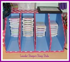 Lavenderstamper: Stampin up Storage for ink pads, what a great idea!