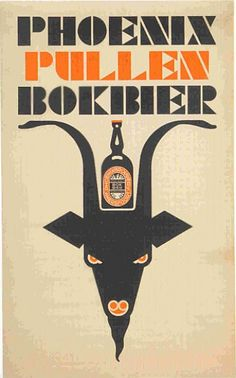 Phoenix Pullen Bokbier - N. Vintage Advertisements, Vintage Ads, Vintage Posters, Beer Advertisement, Advertising, Sous Bock, Beer Poster, Vintage Graphic Design, Retro Illustration