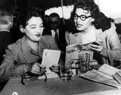 Ava Gardner (R) enjoying Del Mar with her sister Beatrice and trying to pick a winner.