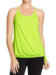 Women's Active by Old Navy Mesh-Bubble Tanks | Old Navy I worked out in old T-shirts for years, and when I bought a proper athletic top with moisture-wicking fabric, it was a game-changer. Spending $$ on clothes you just stink up seems stupid (screw Lululemon), but Old Navy and Forever 21 actually have pretty decent stuff. This Old Navy top is $17. TJ Maxx, Marshalls, and other discount stores always have a giant athletic selection where you can get tops, shorts, and pants for about $10…
