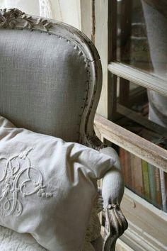 ♅ Dove Gray Home Decor ♅  grey chair