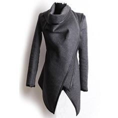 Gender: Women Outerwear Type: Trench Decoration: Button,Zippers,Spliced Clothing Length: Regular Pattern Type: Solid Type: Wide-waisted Closure Type: Open Stitch Style: Fashion Fabric Type: Jersey Mat