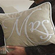 Mrs. Pillow Flax White 45x45 Riviera Maison