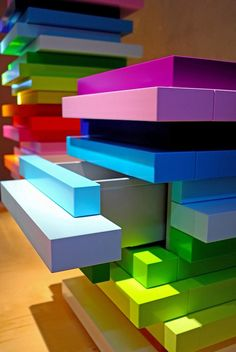 Mille – Feuille, by Emmanuelle Moureaux for Schonbuch. #furniture #funky #colour #design