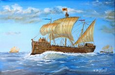 For cargo transport, the Byzantines usually commandeered ordinary merchantmen as transport ships (phortēgoi) or supply ships (skeuophora). These appear to have been mostly sailing vessels, rather than oared.