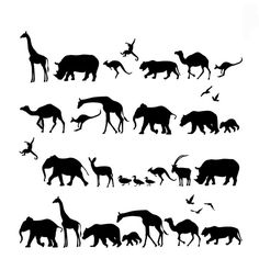 Muursticker Safari (kies zelf je kleur!) I HAPPY MARKET